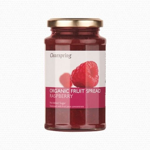 Organic Raspberry Fruit Spread with No Added Sugar 290g by Clearspring