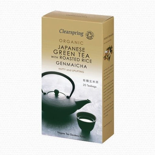 Organic Genmaicha Green Tea With Roasted Brown Rice 20 Tea Bags by Clearspring