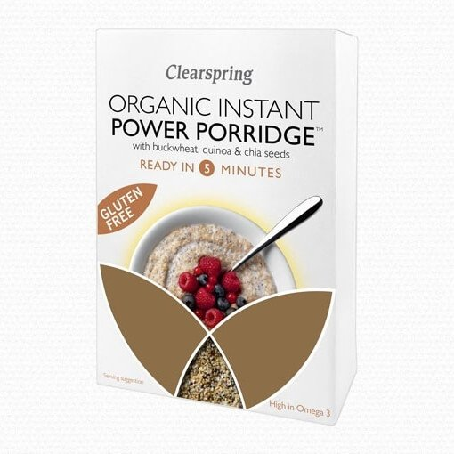 Organic Instant Porridge with Buckwheat, White Quinoa & Chia Seeds 160g by Clearspring