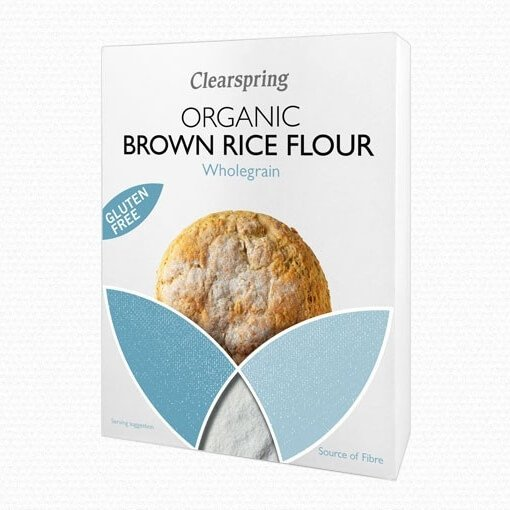 Organic Brown Rice Wholegrain Flour 375g by Clearspring