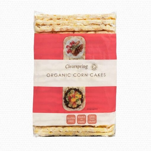 Organic Corn Cakes 130g by Clearspring