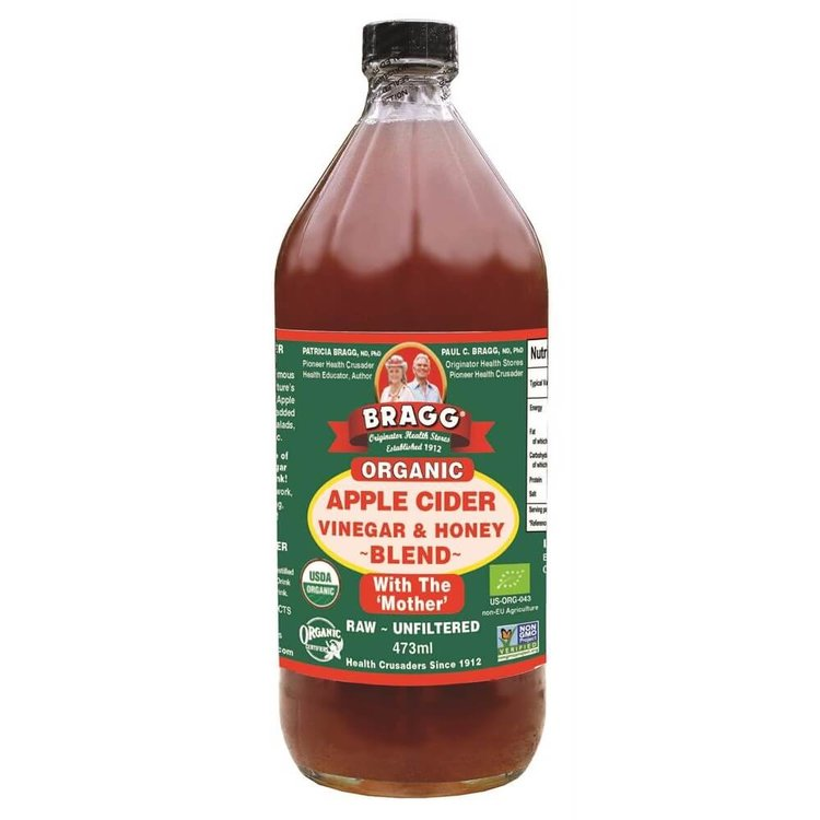 Bragg Organic Apple Cider Vinegar & Honey Blend 473ml (with the 'Mother')