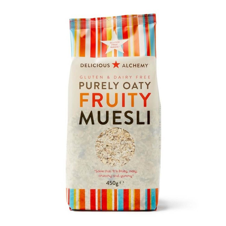 Pure Oat & Fruit Muesli (Gluten & Dairy-Free) 450g by Delicious Alchemy