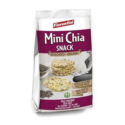 Organic Mini Chia Cakes Snack 50g by Fiorentini