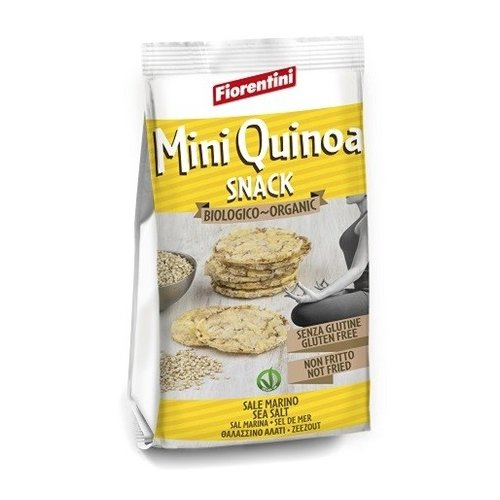 Organic Mini Quinoa Snacks with Sea Salt 50g by Fiorentini