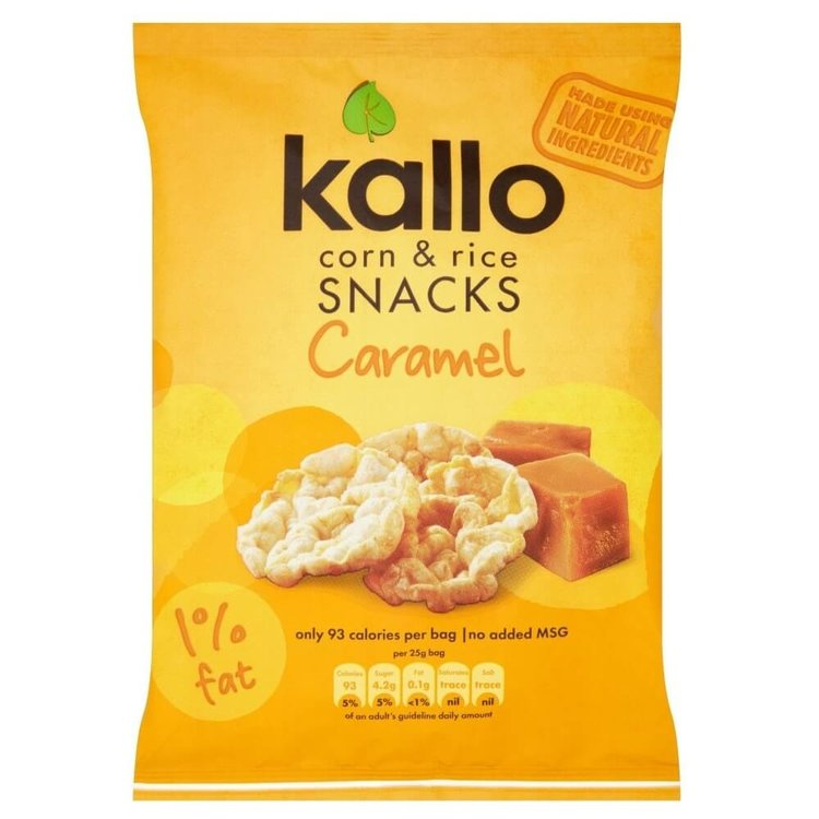 Caramel Corn & Rice Snacks 25g by Kallo