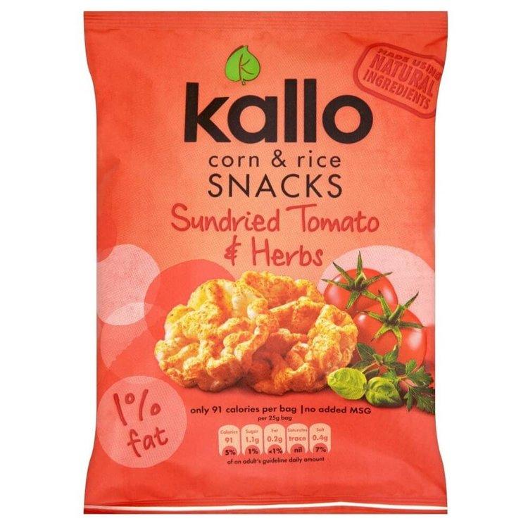 Tomato & Herb Corn & Rice Snacks 25g by Kallo