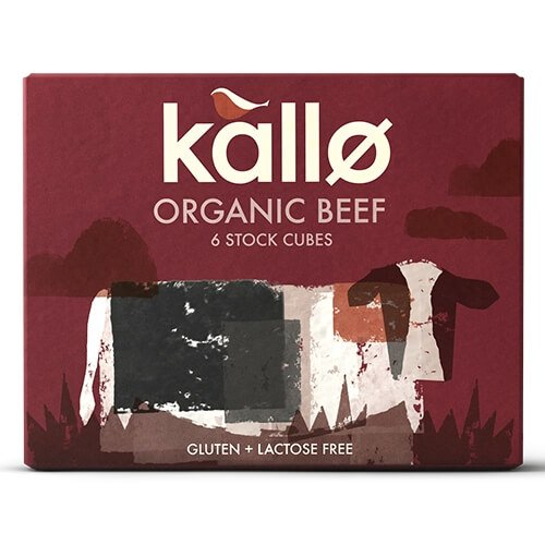Organic Natural Beef Stock Cubes 66g by Kallo