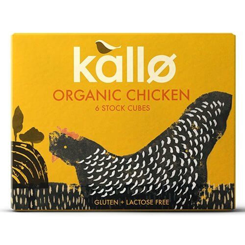 Organic Natural Chicken Stock Cubes 66g by Kallo