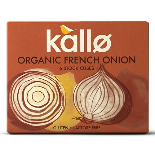 Organic Natural French Onion Stock Cubes 66g by Kallo