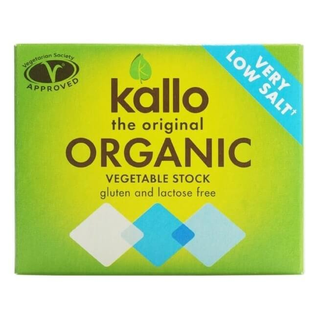 Organic Low Salt Natural Vegetable Stock Cubes 66g by Kallo