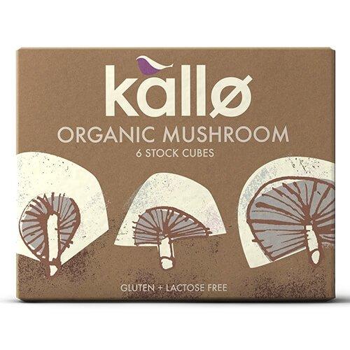 Organic Natural Mushroom Stock Cubes 66g by Kallo