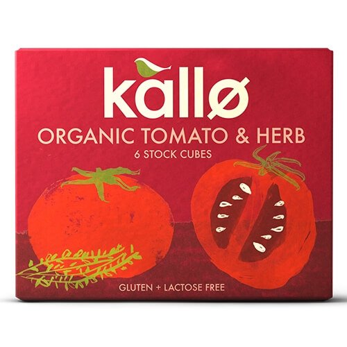 Organic Tomato & Herb Natural Stock Cubes 66g by Kallo
