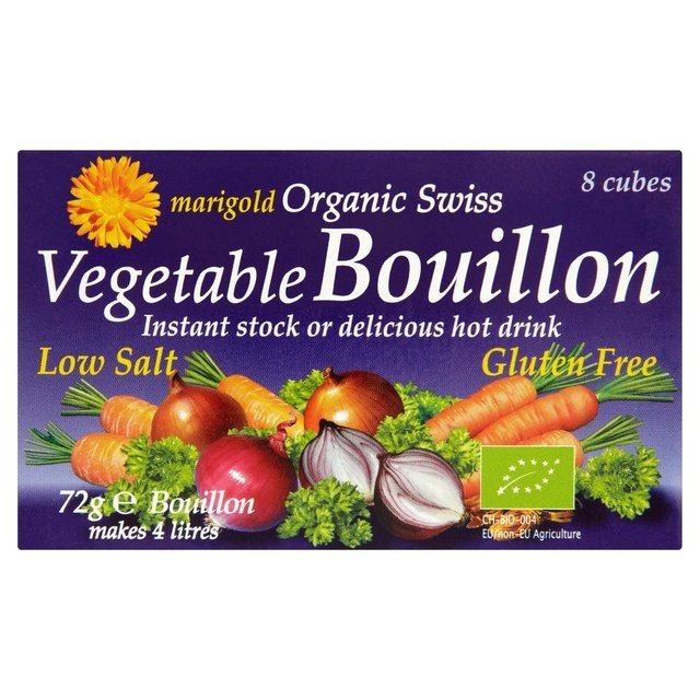 Organic Swiss Vegetable Bouillon Reduced Salt Stock Cubes 72g by Marigold