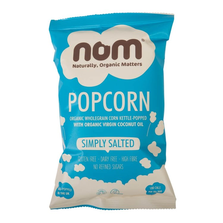 Organic Simply Salted Popcorn with No Added Sugar 20g by NOM