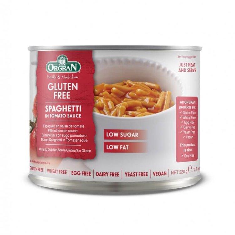 Rice & Legume Split Pea Spaghetti in Tomato Sauce 220g by Orgran