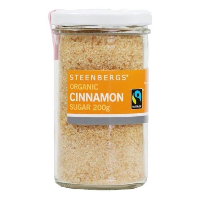 Organic Fairtrade Cinnamon Sugar 200g by Steenbergs