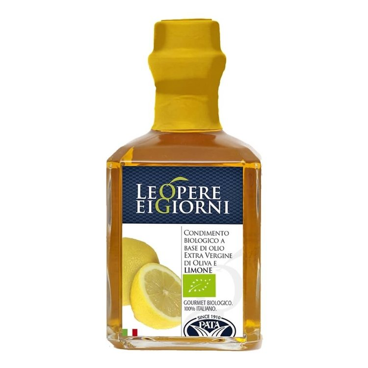 Organic Lemon Infused Extra Virgin Olive Oil 250ml (Italian)