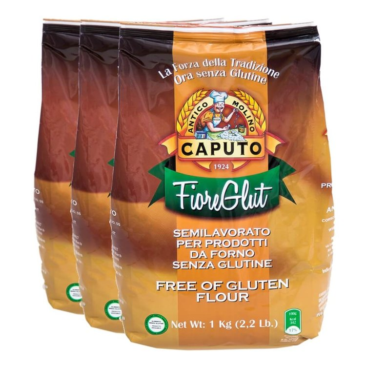 3 x Caputo Gluten Free Italian Flour for Pizza, Pasta and Breads 1kg