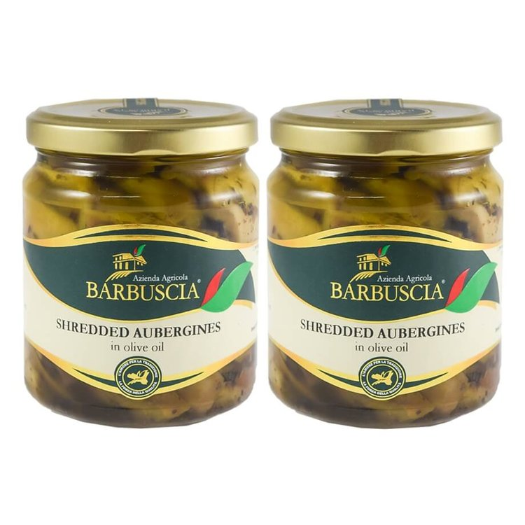 Calabrian Shredded Aubergines in Extra Virgin Olive Oil 2 x 314ml