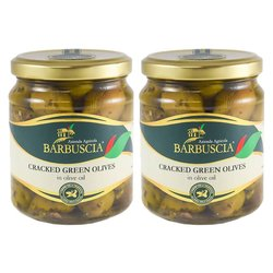 Sicilian Cracked Green Olives In Olive Oil 2 x 314ml