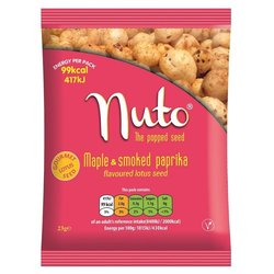 Maple & Smoked Paprika Flavoured Popped Lotus Seeds 6 x 23g