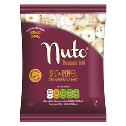 Salt & Pepper Flavoured Popped Lotus Seeds 6 x 23g