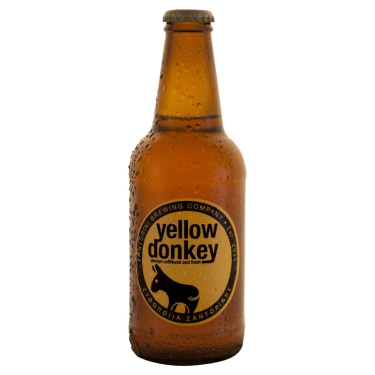 'Yellow Donkey' Greek Beer 5.0% 330ml (Santorini Brewing Co.)