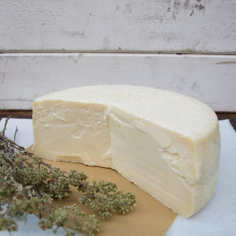 250g Organic Goat & Sheeps' Milk Graviera Hard Greek Cheese by Ecofarma