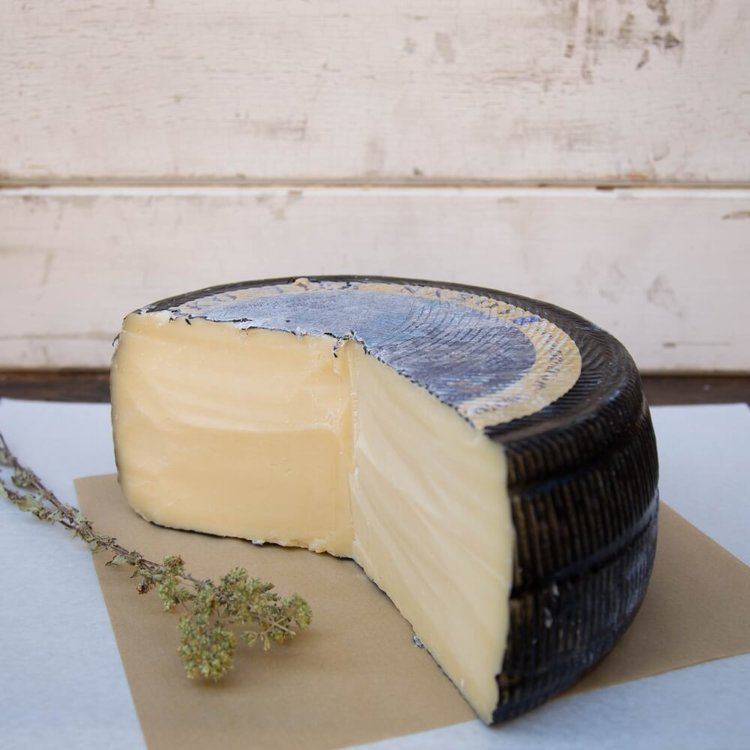 500g Arseniko Mavro Aged Hard Yellow Greek Cheese From Naxos Island