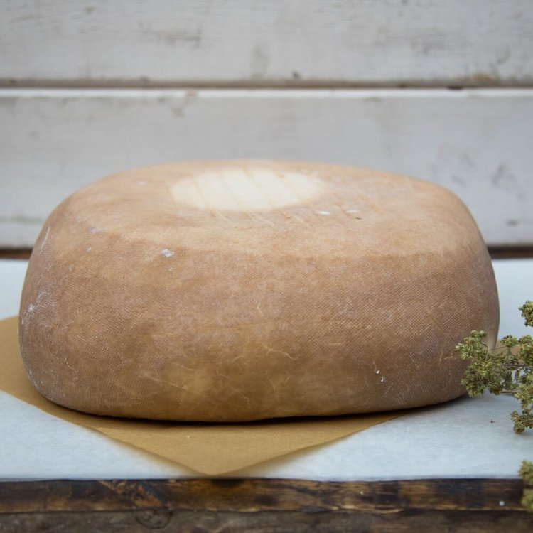 300g Melanotyri Wine Aged 'Drunken' Sheep & Goats' Milk Cheese From Naxos Island