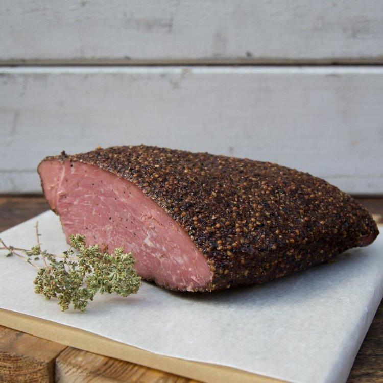 Beechwood & Peppercorn Smoked Beef Pastrami 220-250g (Northern Greece)