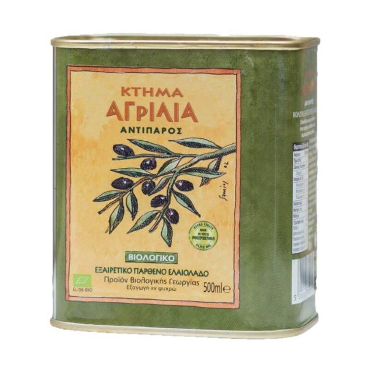 Organic Extra Virgin Koroneiki Olive Oil 500ml Metal Tin