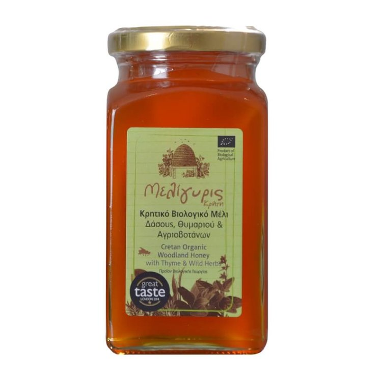 450g Organic Cretan Woodland Honey with Thyme & Wild Herbs