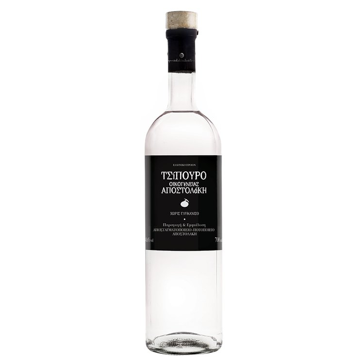 Tsipouro (without Anise) Greek Spirit 200ml by Apostolakis Family