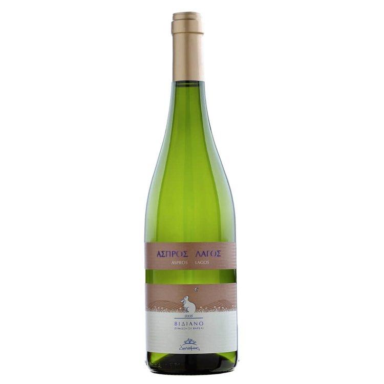 'Aspros Lagos' Vidiano Dafnes Greek White Wine PGI 2015 13.5% Vol