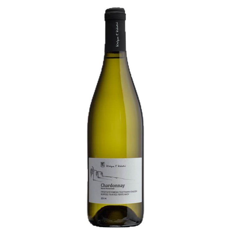 Barrel Fermented Chardonnay Mt Pendeli Dry White Wine PGI 2014 12.5% Vol