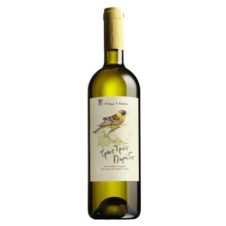 Roditis-Gewurzstraminer 'Treis treis Parades' Dry White Wine 2015