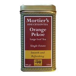 Orange Pekoe Loose Leaf Ceylon Black Tea in Tin Tea Caddy (Organic) 100g