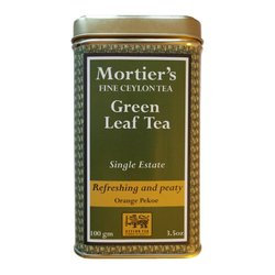 Green Loose Leaf Tea Organic Single Estate in Tin Tea Caddy 100g