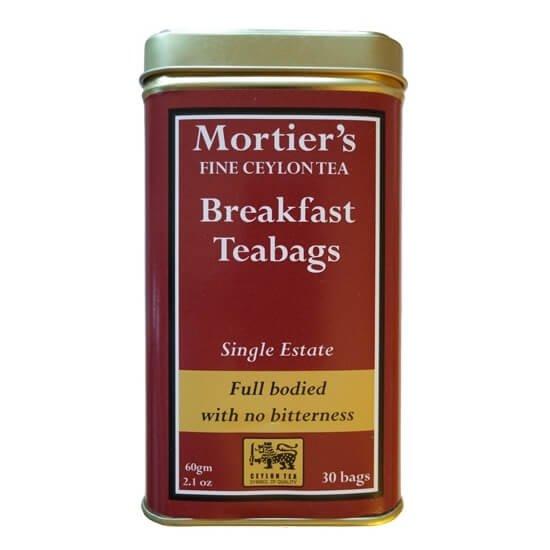 Ceylon Breakfast Single Estate 30 Tea Bags in Tin Tea Caddy 60g