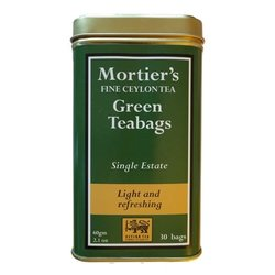 Green Tea 30 Tea Bags Single Estate in Tin Tea Caddy 60g
