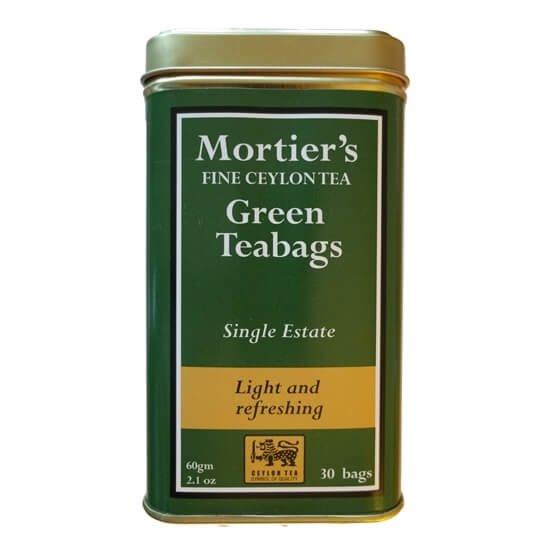 Green Tea 30 Tea Bags Single Estate in Tin Tea Caddy 60g