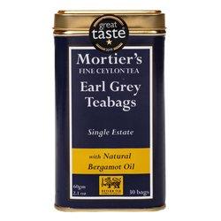 Earl Grey Tea 30 Tea Bags in Tin Tea Caddy (With Natural Begamot) 60g