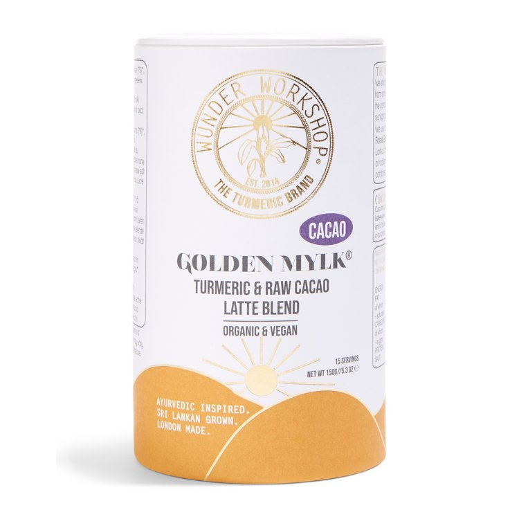 Golden Turmeric Latte Blend with Raw Cacao, Vanilla & Coconut Milk (Vegan, Organic) 150g