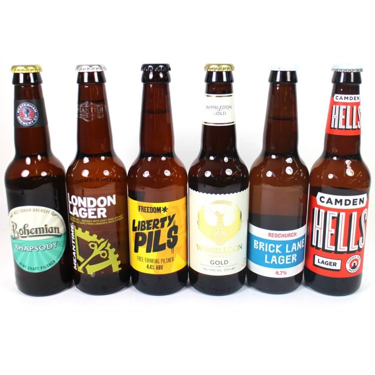 UK Craft Lager Beer 6 Bottle Mixed Case (Inc. Camden Town, Freedom, Meantime, Redchurch)
