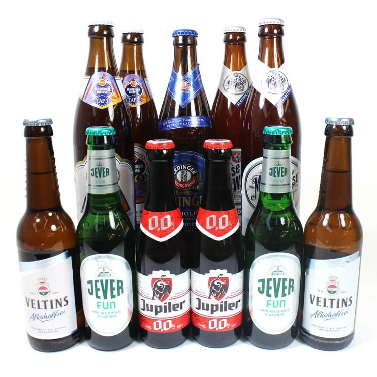 Low Alcohol & Alcohol-Free Beer 12 Bottle Mixed Case (Inc. Erdinger, Maisel's)