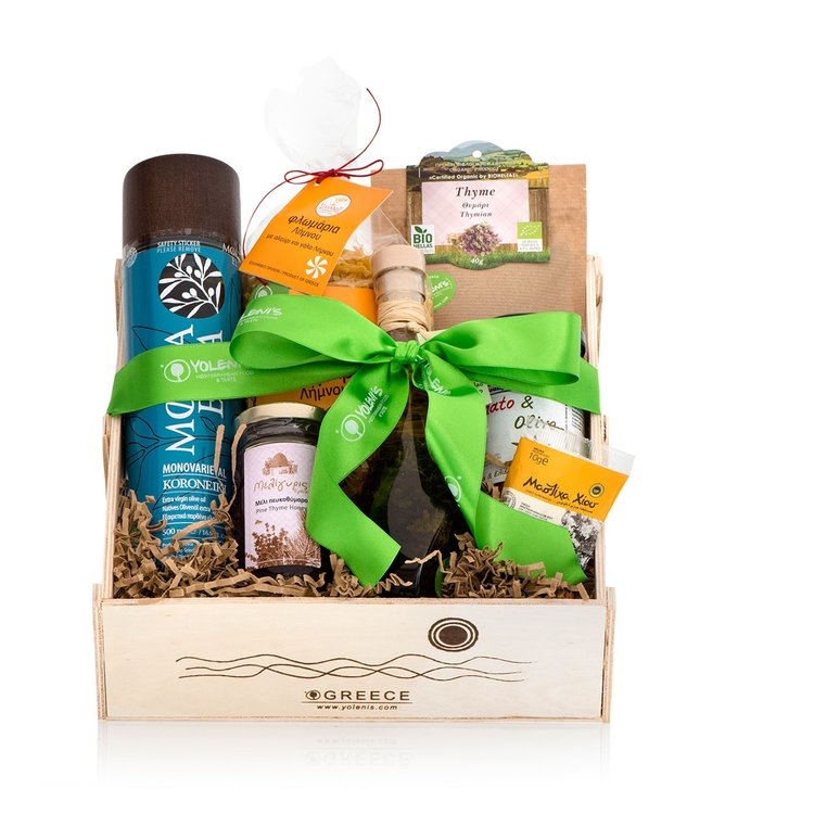 Greek Pasta Recipe Gift Crate with Olive Oils