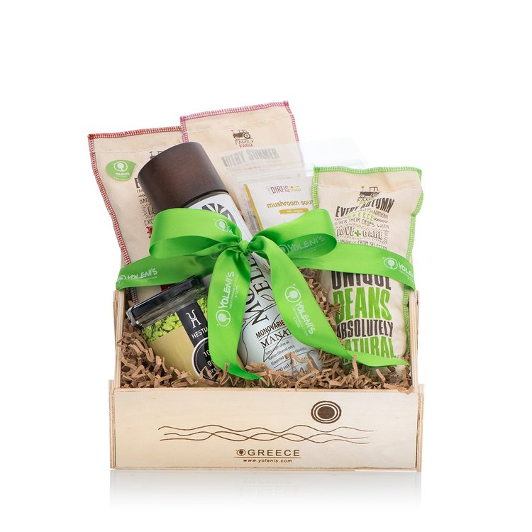 Greek Pulses Recipe Gift Crate with Olive Oil