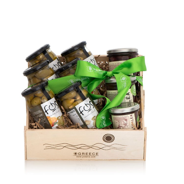 Stuffed Greek Olives Gift Crate